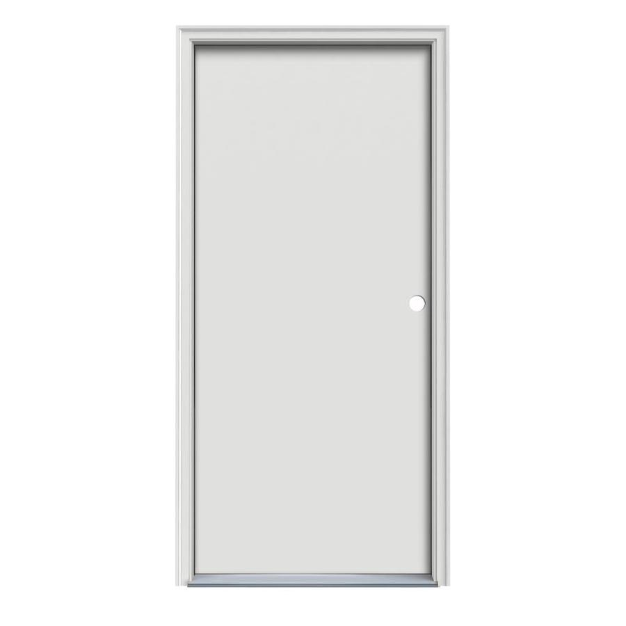 ProSteel Flush Insulating Core Left-Hand Inswing Steel Primed Prehung Entry Door (Common: 32-in x 80-in; Actual: 33.5-in x 81.5-in)