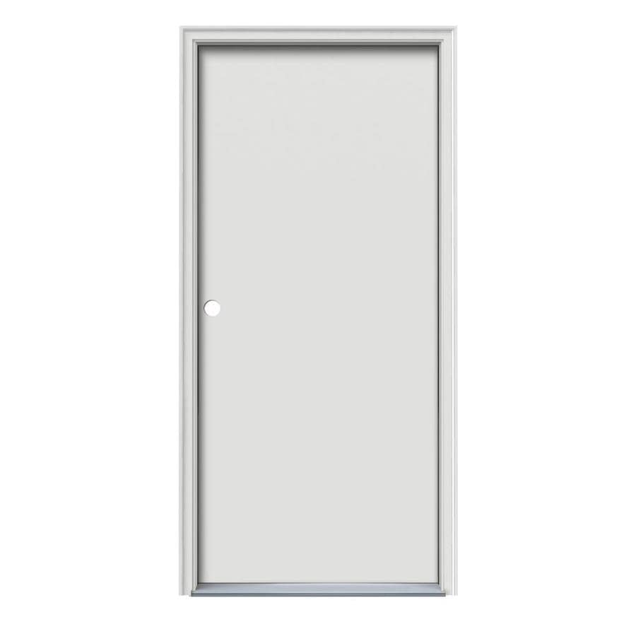 ProSteel Flush Insulating Core Right-Hand Inswing Steel Primed Prehung Entry Door (Common: 36-in x 80-in; Actual: 37.5-in x 81.5-in)
