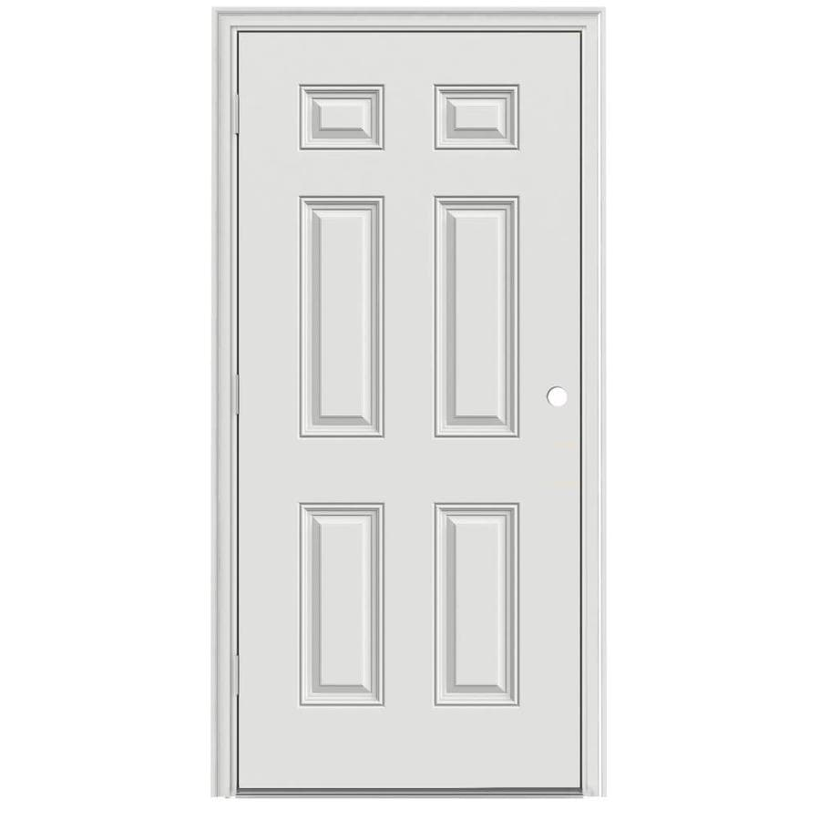 ProSteel 6-Panel Insulating Core Right-Hand Outswing Steel Primed Prehung Entry Door (Common: 36-in x 80-in; Actual: 37.5-in x 80.375-in)