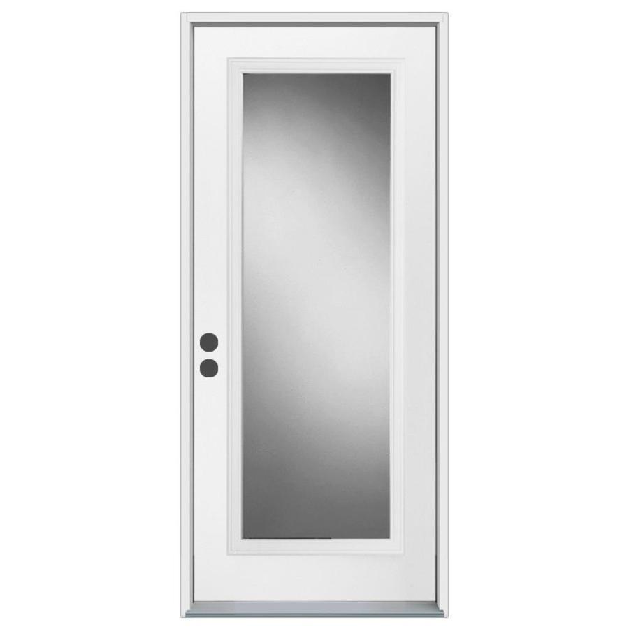 Shop Reliabilt Insulating Core Steel Prehung Entry Door Common 32 In X 80 In Actual