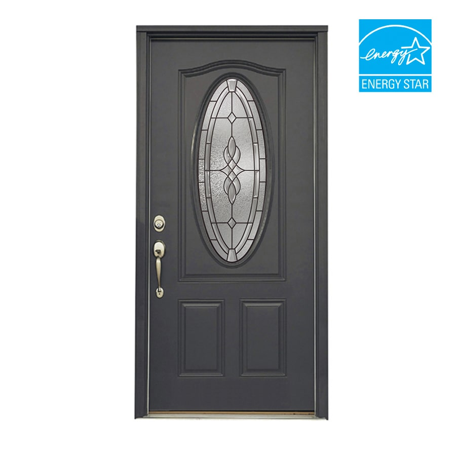 Shop reliabilt 36 hampton steel entry door unit at for Exterior steel entry doors