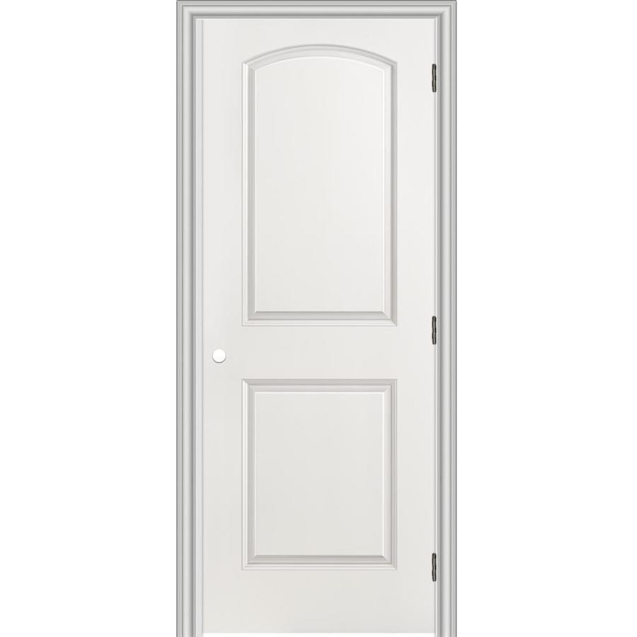 ReliaBilt Prehung Hollow Core 2-Panel Round Top Interior Door (Common: 24-in x 80-in; Actual: 25.5-in x 81.5-in)