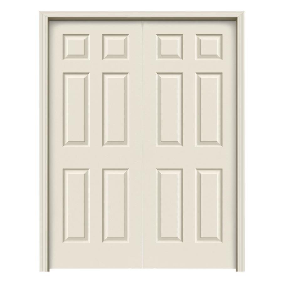 ReliaBilt Prehung Hollow Core 6-Panel Interior Door (Common: 60-in x 80-in; Actual: 61.5-in x 81.5-in)