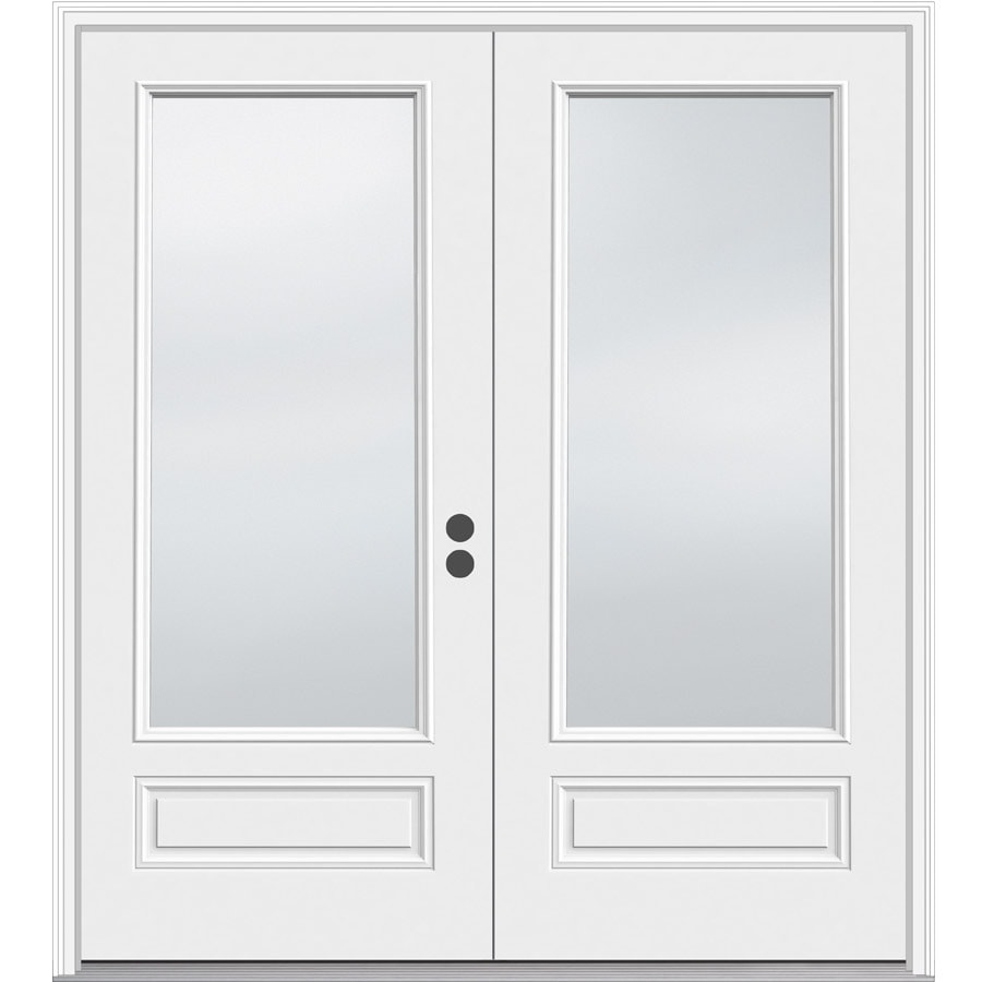 JELD-WEN 71.5-in 1-Lite Glass Composite French Inswing Patio Door