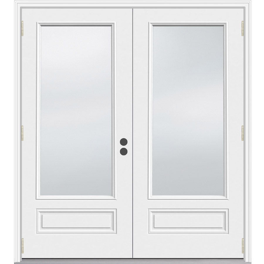 JELD-WEN 71.5-in 1-Lite Glass Composite French Outswing Patio Door