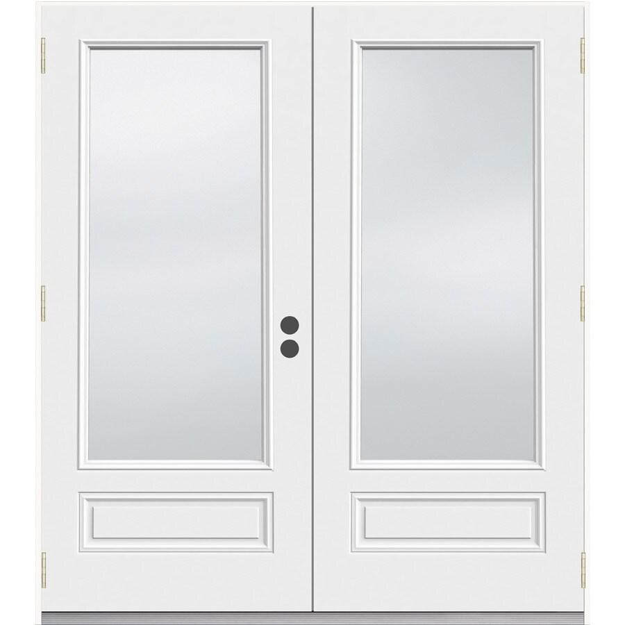 JELD-WEN 71.5-in 1-Lite Glass Composite French Outswing Patio Door