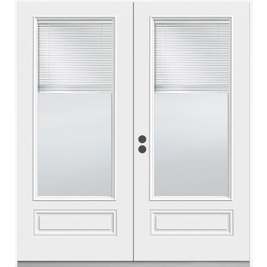 JELD-WEN 71.5-in Blinds Between the Glass Composite French Inswing Patio Door