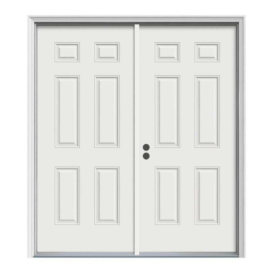 ReliaBilt 74-in x 81.75-in 6-Panel Prehung Inswing Steel Entry Door