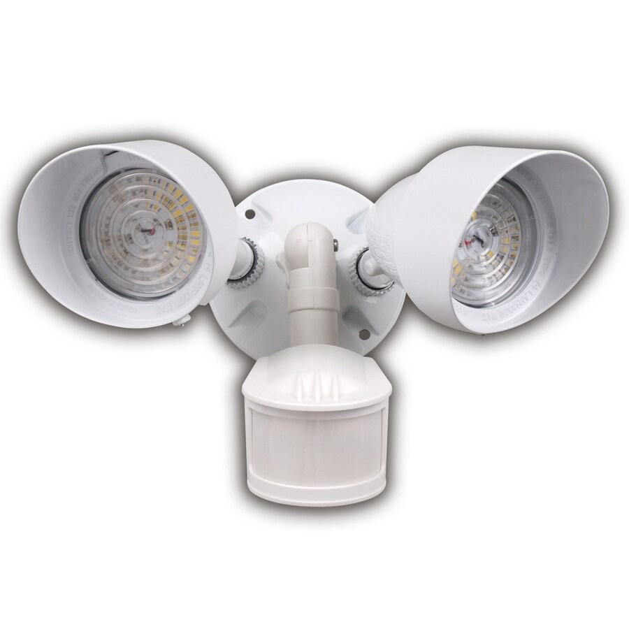 Utilitech Led Garage Lights: Shop Utilitech 180-Degree 2-Head LED Motion-Activated