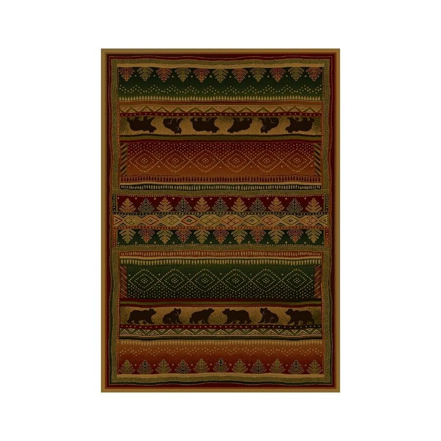 United Weavers Of America Genesis Multicolor Rectangular Indoor Woven Lodge Area Rug (Common: 8 x 10; Actual: 94-in W x 126-in L)