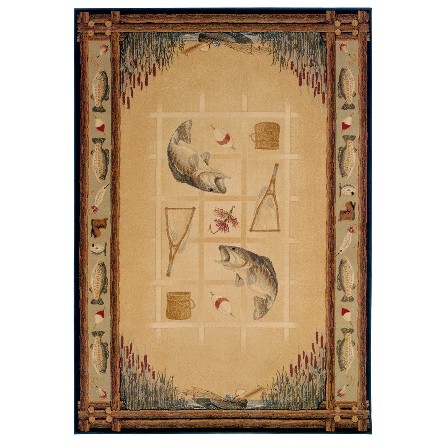 United Weavers Of America Genesis Brown Rectangular Indoor Woven Lodge Area Rug (Common: 8 x 10; Actual: 94-in W x 126-in L)