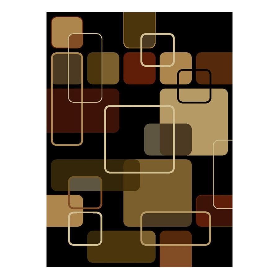 United Weavers Of America China Garden Black Rectangular Indoor Tufted Area Rug (Common: 8 x 10; Actual: 94-in W x 126-in L)