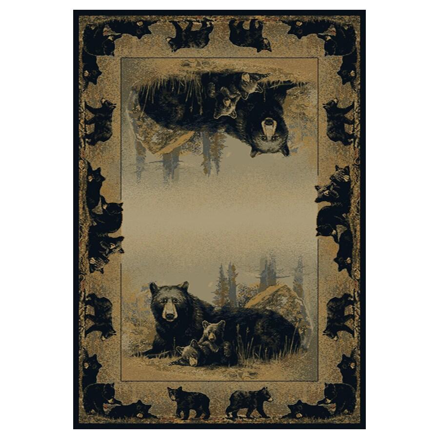 United Weavers Of America Hautman Brown Rectangular Indoor Woven Lodge Area Rug (Common: 5 x 8; Actual: 63-in W x 86-in L)