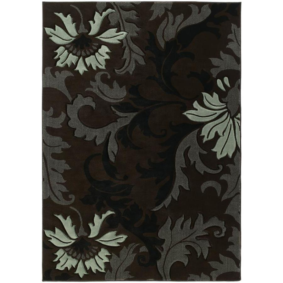 United Weavers Of America Contours Brown Rectangular Indoor Woven Area Rug (Common: 5 x 8; Actual: 63-in W x 86-in L)