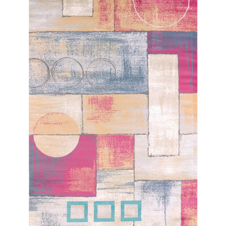 United Weavers Of America Modern Textures Multicolor Rectangular Indoor Machine-Made Area Rug (Common: 8 x 11; Actual: 63-in W x 86-in L)