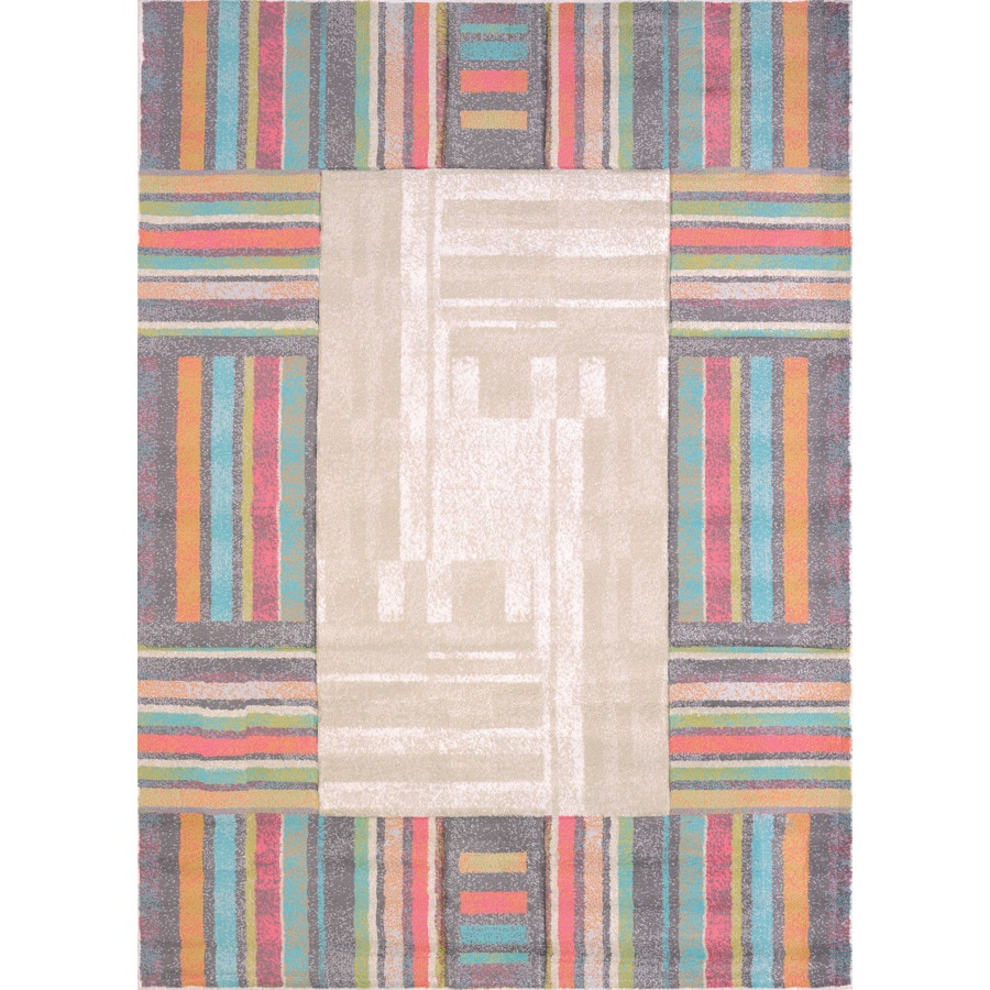 United Weavers Of America Urban Galleries Multicolor Rectangular Indoor Machine-Made Area Rug (Common: 5 x 8; Actual: 63-in W x 86-in L)
