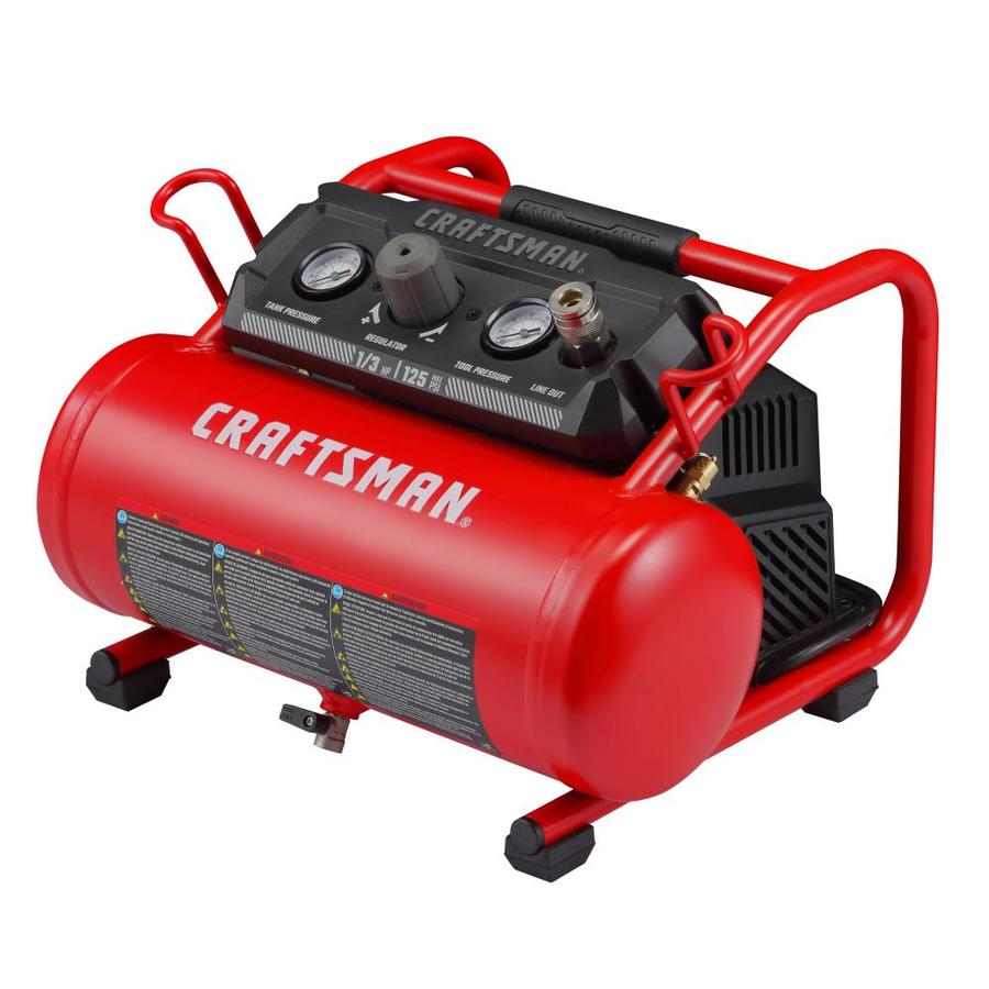 Craftsman 2 Gallon Single Stage Portable Electric Hot Dog Air Compressor In The Air Compressors Department At Lowes Com