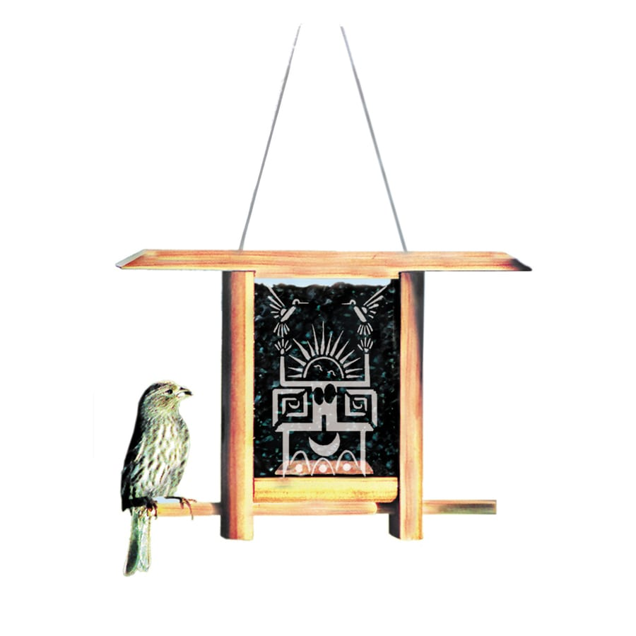 Schrodt Designs Schrodt Wood Hopper Bird Feeder