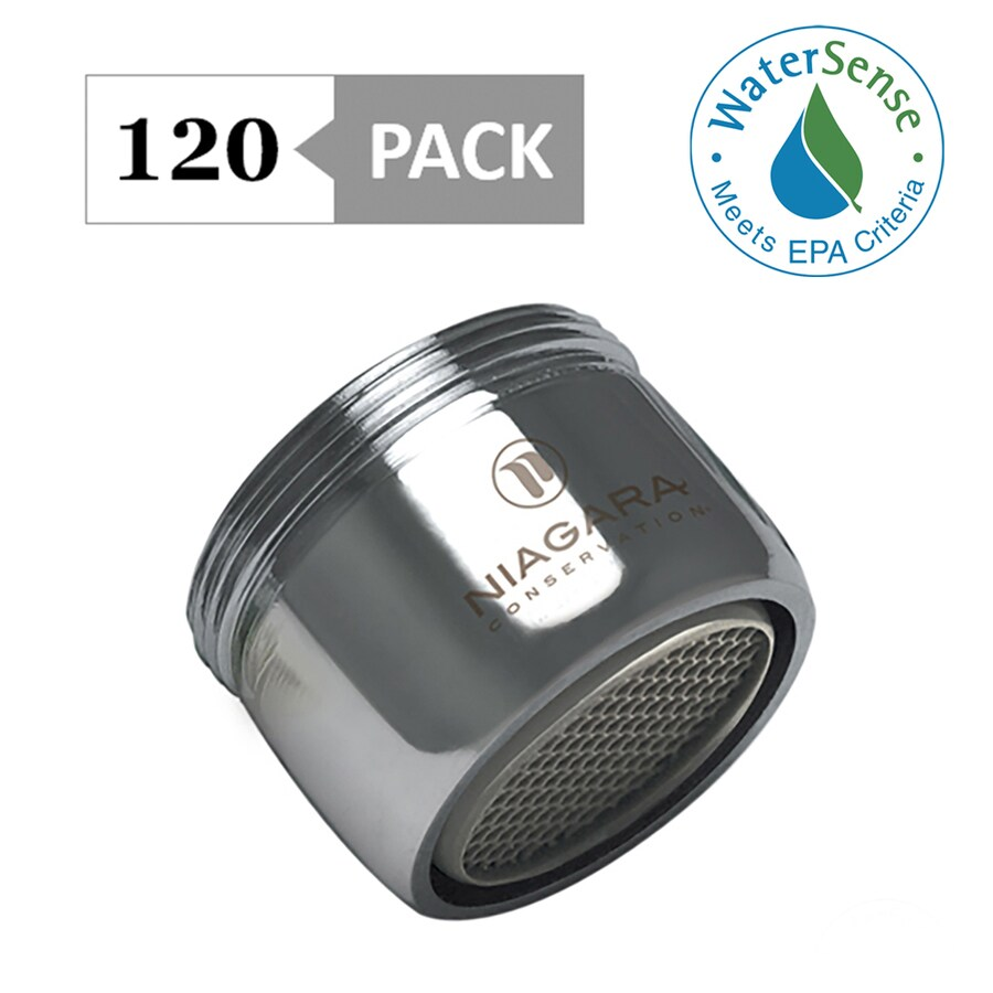 15//16-27 x 55//64-27 Size Niagara Conservation N3210BBN-PC-TU Dual Thread 1.0 GPM Bubble 6-Pack in. Faucet Aerator Standard Brushed Nickel,