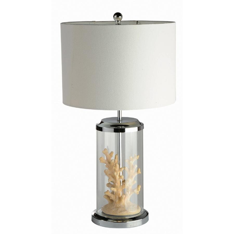 shop elegant designs 24 in chrome indoor table lamp with. Black Bedroom Furniture Sets. Home Design Ideas