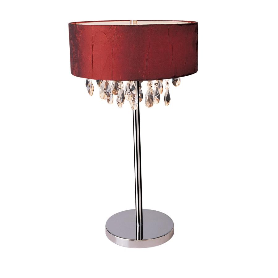 Shop Elegant Designs 22.25-in Chrome Standard Indoor Table ...