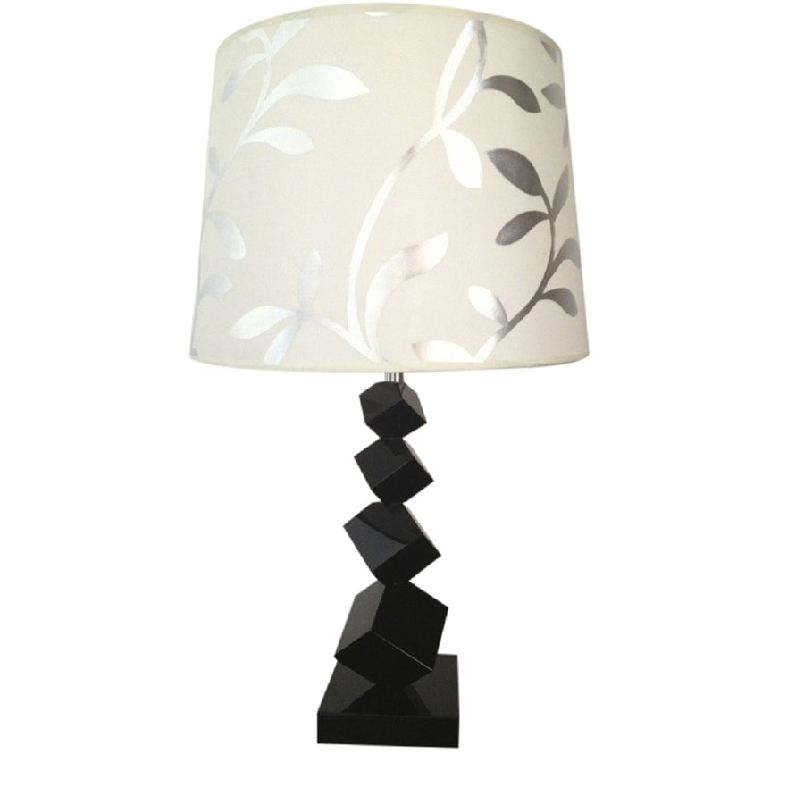 Elegant Designs 25-in Black Indoor Table Lamp with Acrylic Shade