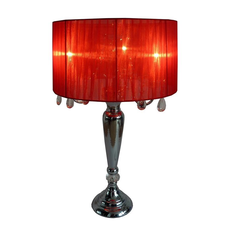 Shop Elegant Designs 25.59-in Chrome Indoor Table Lamp ...