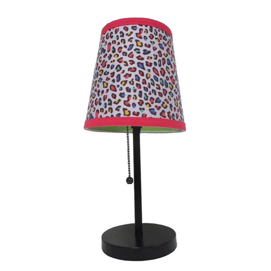 LimeLights 15-in Black Indoor Table Lamp with Fabric Shade