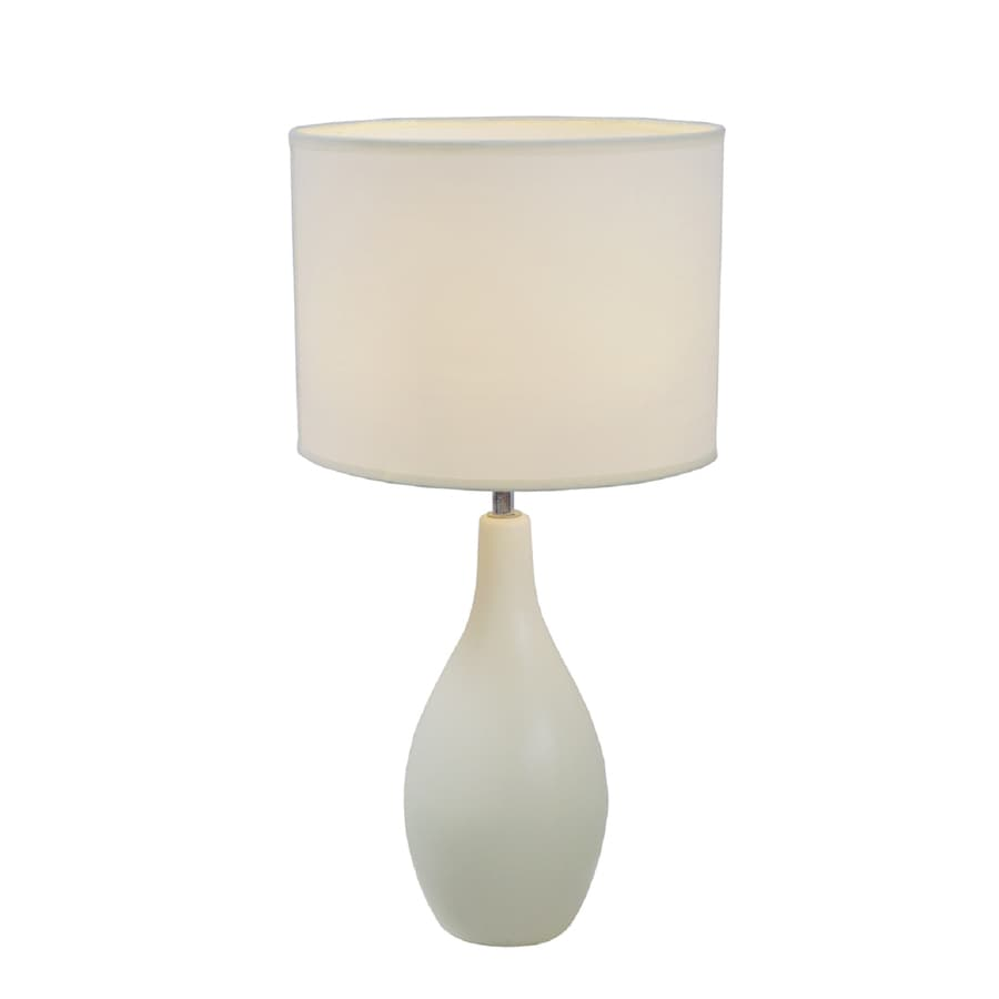 Simple Designs 19-in Off White Indoor Table Lamp with Fabric Shade