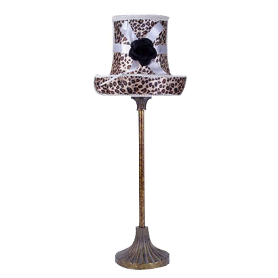 LimeLights 20.87-in Leopard Indoor Table Lamp with Fabric Shade