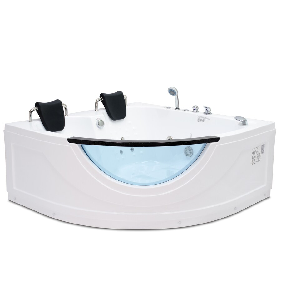 Northeastern Bath 2-Person White Acrylic Corner Whirlpool Tub (Common: 60-in x 59-in; Actual: 30-in x 59-in x 59-in)