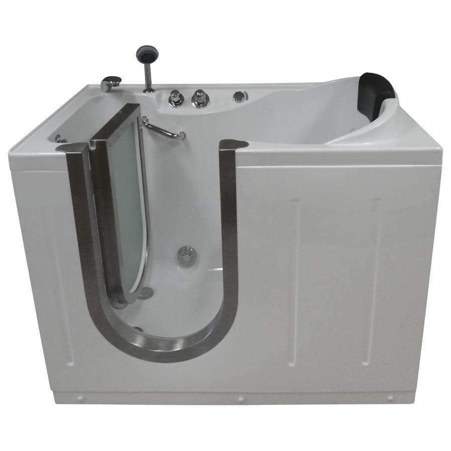 Northeastern Bath Acrylic Rectangular Walk-in Bathtub with Left-Hand Drain (Common: 30-in x 52-in; Actual: 40-in x 29.5-in x 52-in)