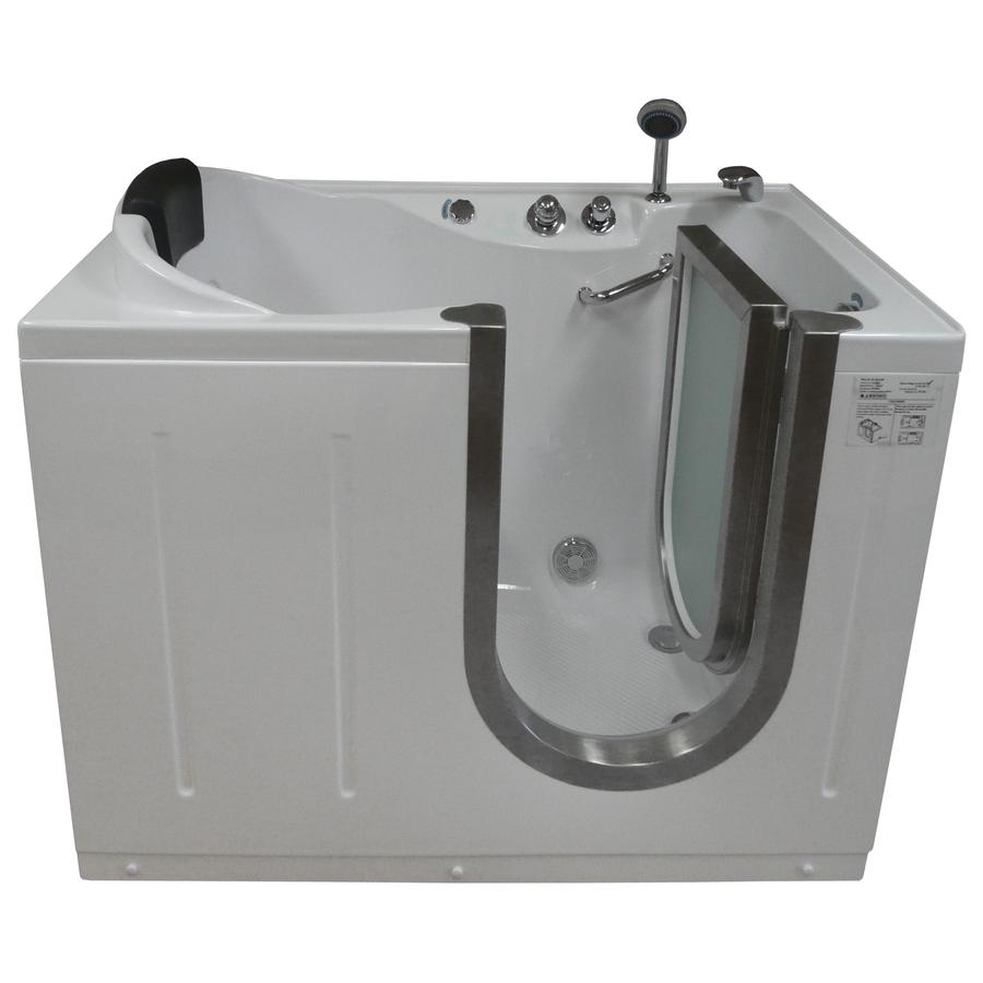 Northeastern Bath Acrylic Rectangular Walk-in Bathtub with Right-Hand Drain (Common: 30-in x 52-in; Actual: 40-in x 29.5-in x 52-in)