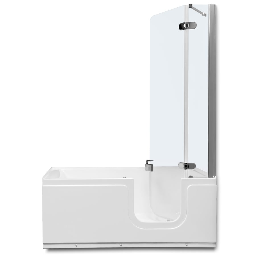Northeastern Bath White Acrylic Rectangular Walk-in Bathtub with Right-Hand Drain (Common: 30-in x 59-in; Actual: 24-in x 30.125-in x 59.1875-in)