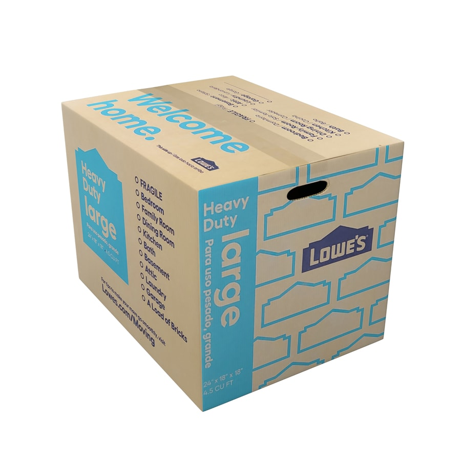 Large Heavy Duty Cardboard Moving Box (Actual 24-in x 18-in)