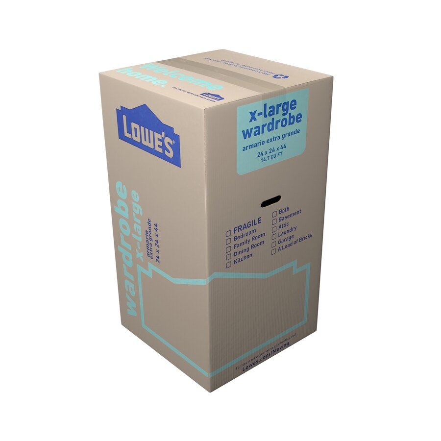 Lowe's X-Large Cardboard Wardrobe Moving Box (Actual: 24-in x 24-in)