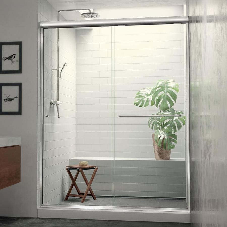 Arizona Shower Door Euro 44-in to 48-in W x 74.5-in H Chrome Sliding Shower Door