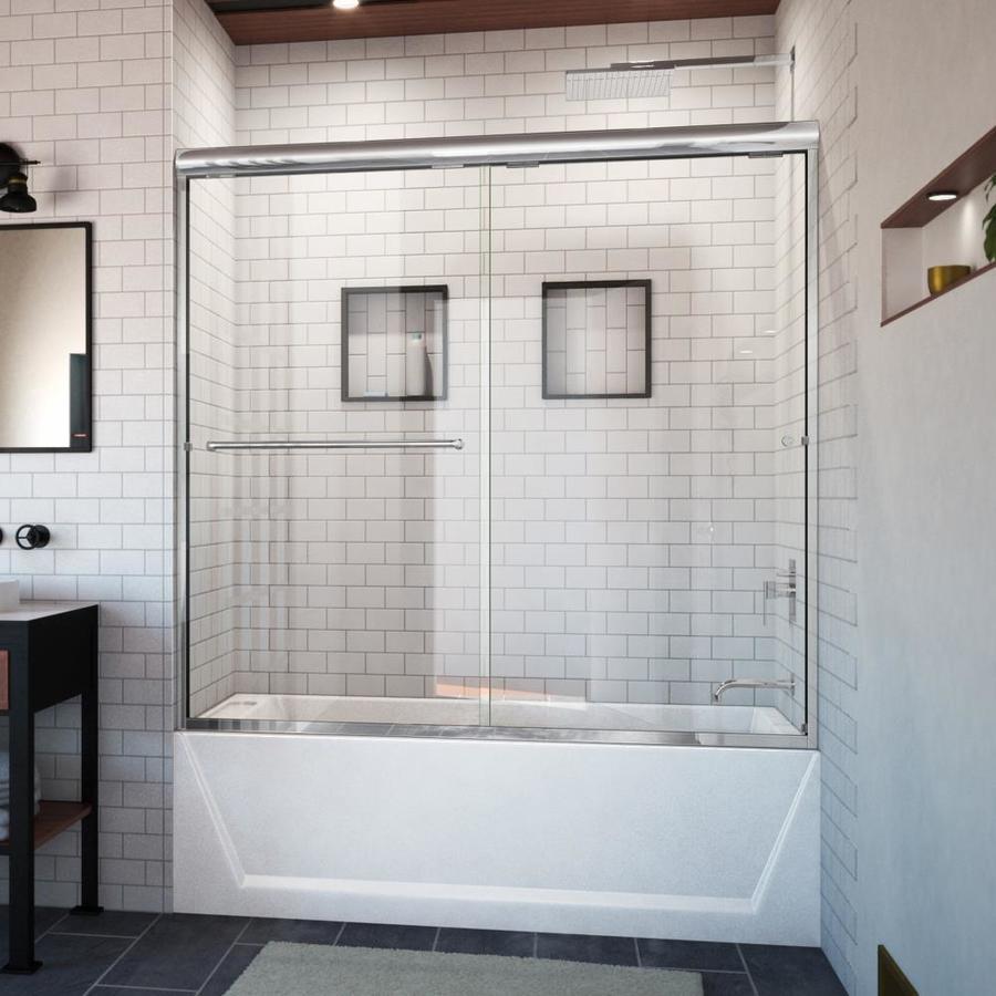Arizona Shower Door Euro 56-in to 60-in W x 57.5-in H Chrome Sliding Shower Door