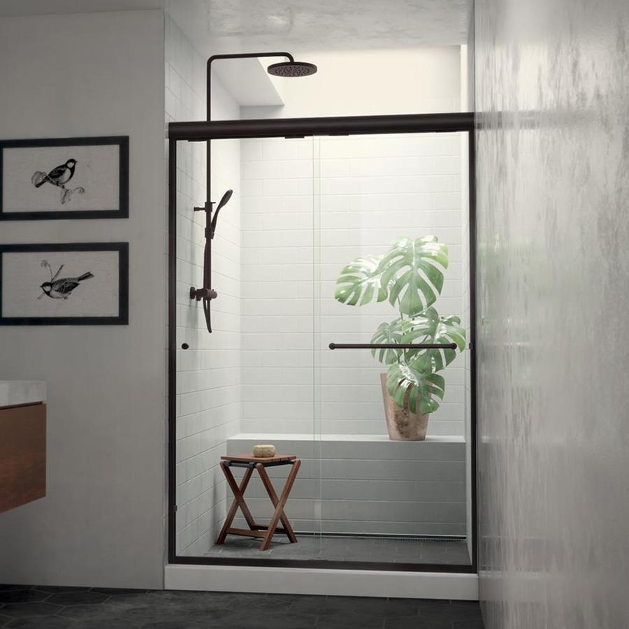 Arizona Shower Door Euro 56-in to 60-in W x 70.5-in H Oil-Rubbed Bronze Sliding Shower Door