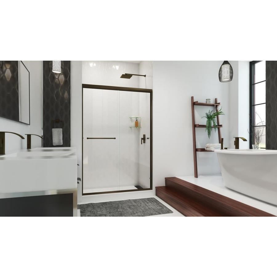 Arizona Shower Door Euro 44-in to 48-in W x 76.375-in H Oil-Rubbed Bronze Sliding Shower Door