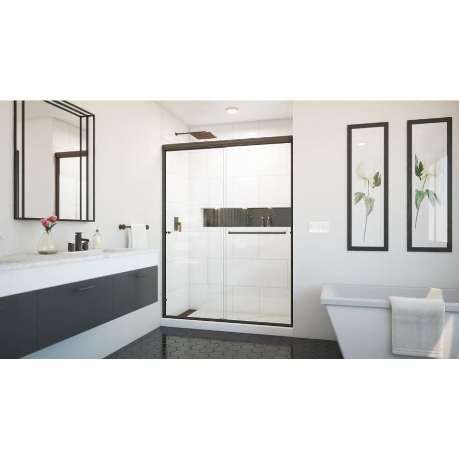 Arizona Shower Door Euro 56-in to 60-in W x 80.375-in H Oil-Rubbed Bronze Sliding Shower Door