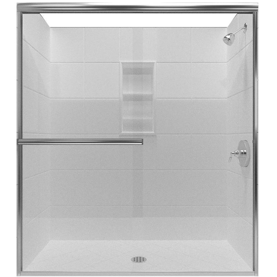 Arizona Shower Door Lite Euro 62-in to 66-in W x 70.375-in H Chrome Sliding Shower Door