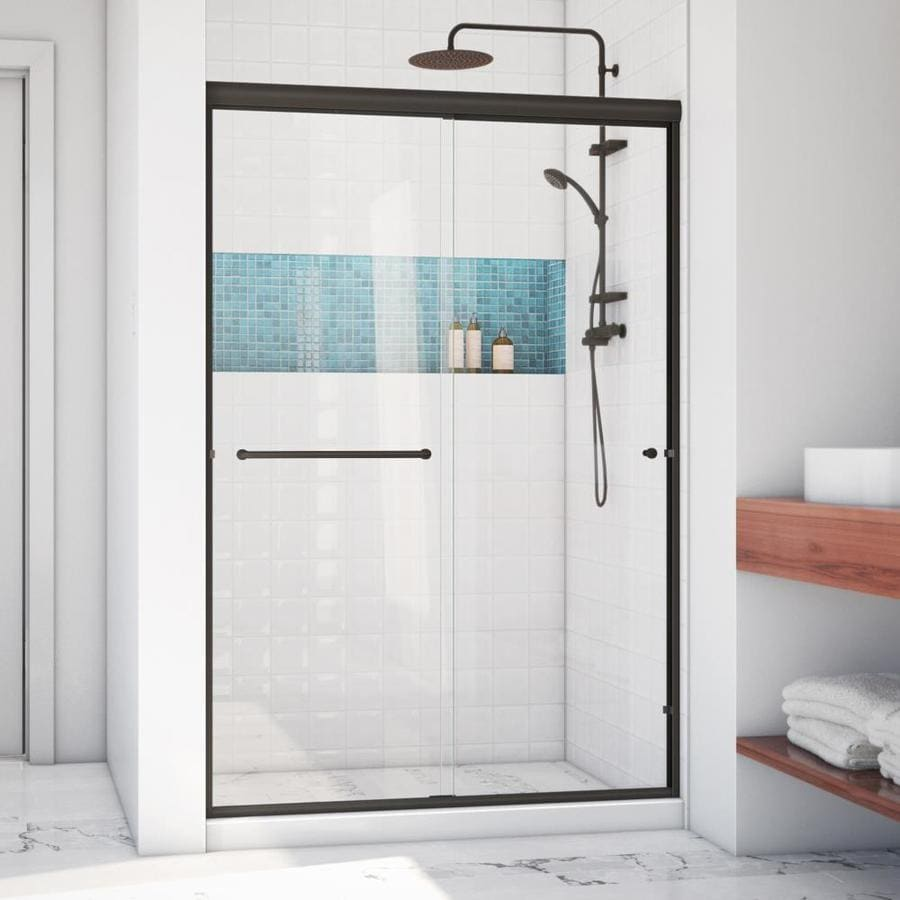 Arizona Shower Door Lite Euro 50-in to 54-in W x 70.375-in H Oil-Rubbed Bronze Sliding Shower Door