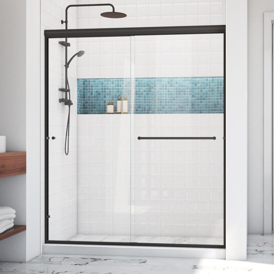 Arizona Shower Door Lite Euro 56-in to 60-in W x 67.375-in H Oil-Rubbed Bronze Sliding Shower Door