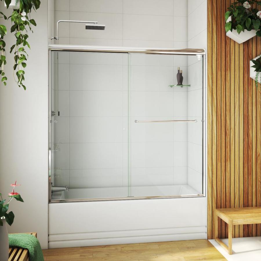 Arizona Shower Door Lite Euro 56-in to 60-in W x 55.375-in H Chrome Sliding Shower Door