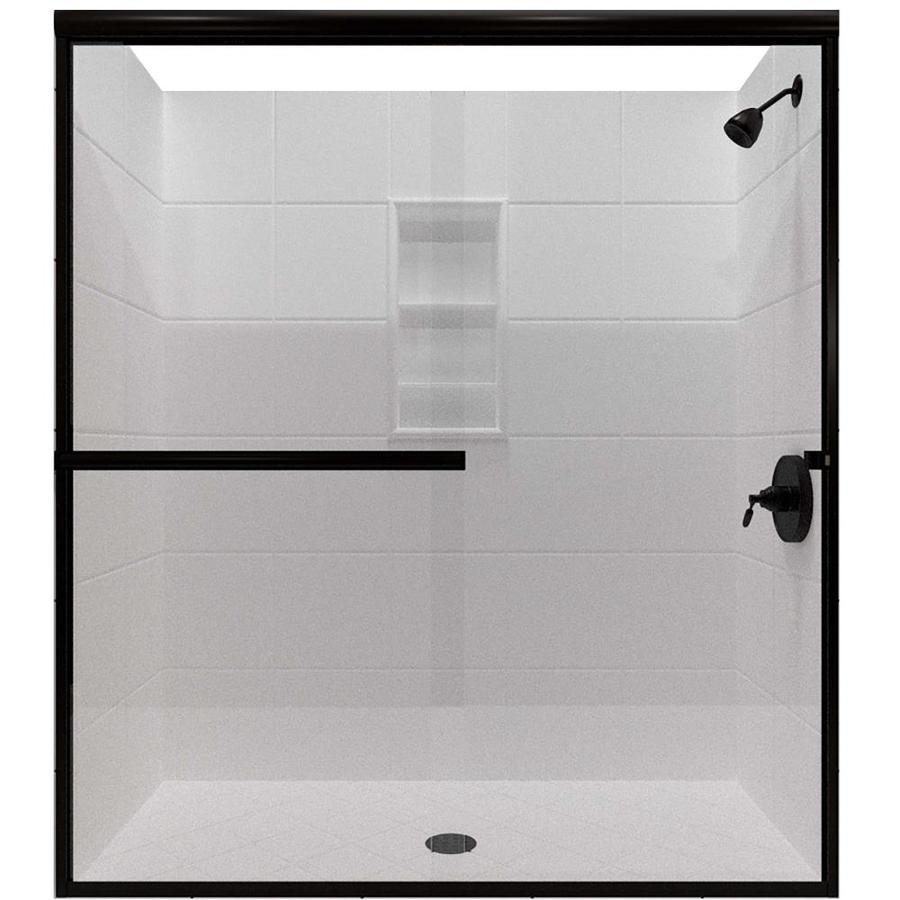 Arizona Shower Door Lite Euro 68-in to 72-in W x 70.375-in H Oil-Rubbed Bronze Sliding Shower Door