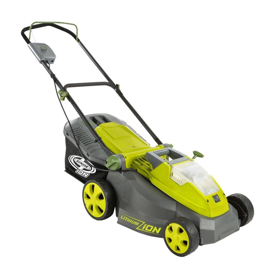 Sun Joe 40-Volt Brushless Lithium Ion (Li-ion) 16-in Deck Width Cordless Electric Push Lawn Mower (Bare Tool)