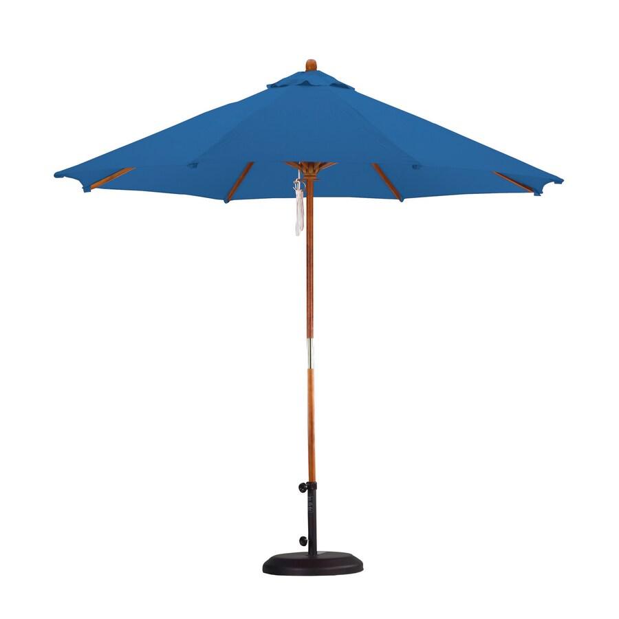 Lauren & Company Pacific Blue Market Patio Umbrella (Common: 9-ft W x 9-ft L; Actual: 9-ft W x 9-ft L)