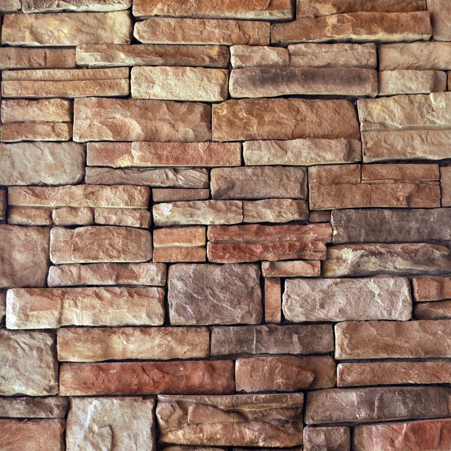 Decorative Interior Stone Veneer : Shop m rock appalachian ledge brown molded corner stone
