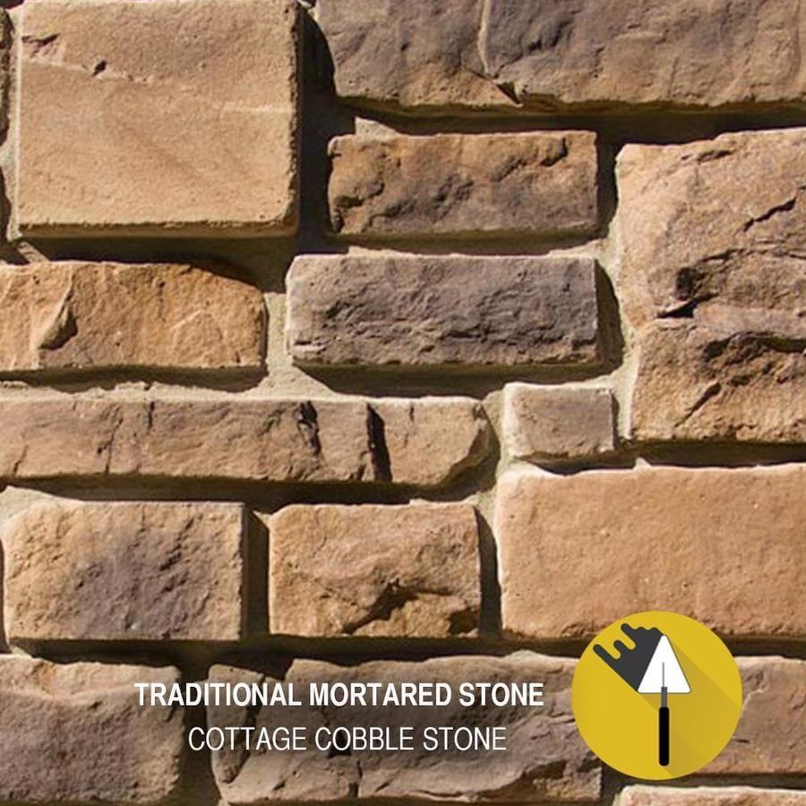 M-Rock Cottage Cobble 100-sq ft Brown Stone Veneer